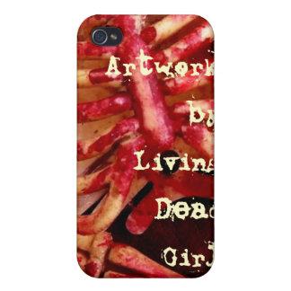 Ilustraciones por el iphone sangriento de vida C d iPhone 4 Cárcasa