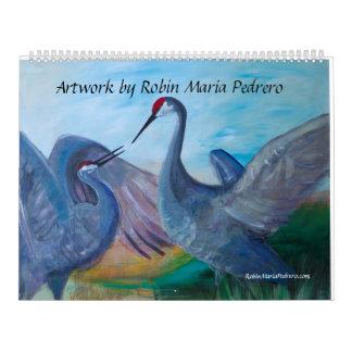 Ilustraciones por el petirrojo Maria Pedrero Calendario