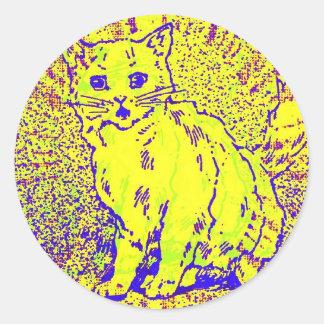 Ilustraciones psicodélicas del gato