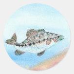 Ilustraciones que ganan de E. Saliga, grado 5 Etiqueta Redonda