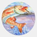 Ilustraciones que ganan de H. Kim, grado 11 Pegatina Redonda