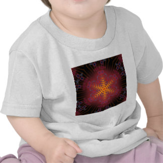 Ilustraciones radiales psicodélicas: camiseta