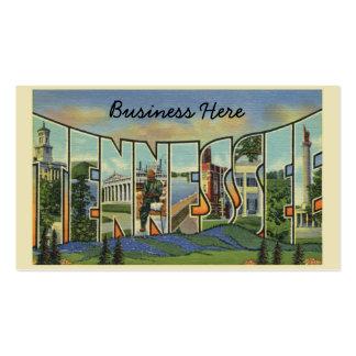 Ilustraciones retras coloridas de Tennessee Tarjetas De Visita