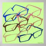 Ilustraciones retras de las gafas de seguridad del posters