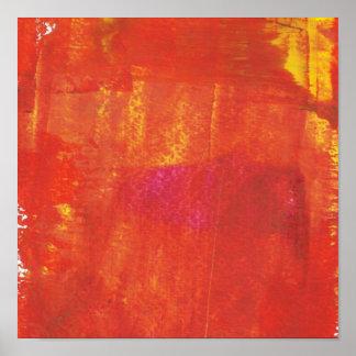 Ilustraciones rojas del extracto del Grunge Póster