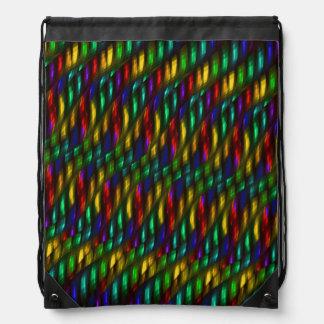 Ilustraciones rojas del extracto del mosaico del mochila