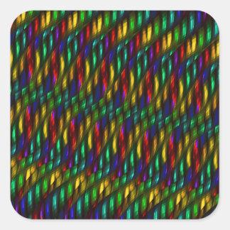 Ilustraciones rojas del extracto del mosaico del pegatina cuadrada