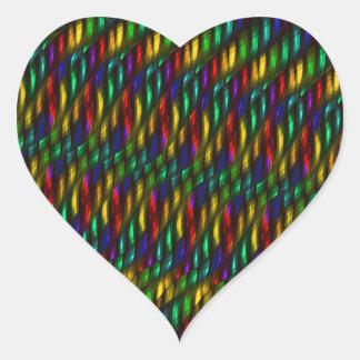 Ilustraciones rojas del extracto del mosaico del pegatina en forma de corazón