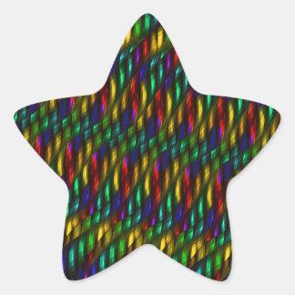 Ilustraciones rojas del extracto del mosaico del pegatina en forma de estrella