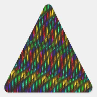 Ilustraciones rojas del extracto del mosaico del pegatina triangular