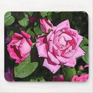 Ilustraciones rosadas artísticas Mousepad de los
