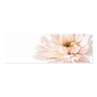 Ilustraciones rosadas de la dalia - personalizar plantilla de tarjeta personal