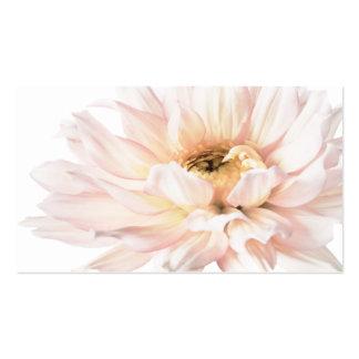 Ilustraciones rosadas de la dalia - personalizar tarjetas de visita