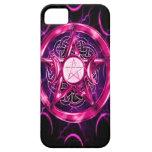 Ilustraciones rosadas del pentáculo iPhone 5 Case-Mate protectores