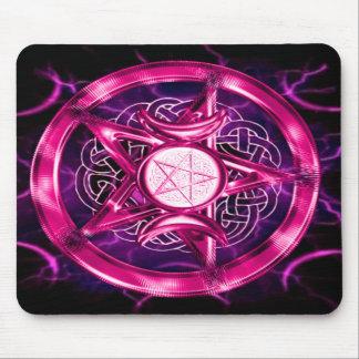 Ilustraciones rosadas del pentáculo tapetes de raton