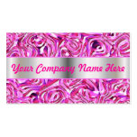 Ilustraciones rosadas y púrpuras del diseñador plantilla de tarjeta personal