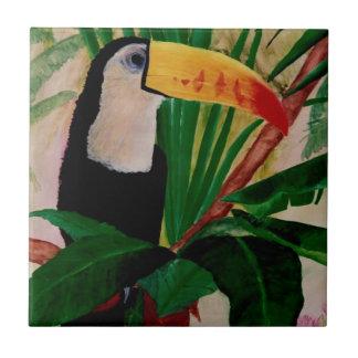 Ilustraciones tropicales de la teja de la selva de