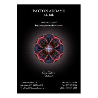 Ilustraciones vivas de los pétalos - tarjeta de vi tarjetas de visita
