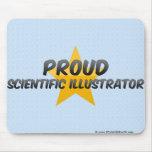 Ilustrador científico orgulloso alfombrilla de ratones