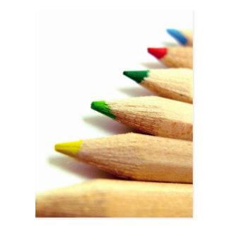 ilustrador coloreado del artista de los lápices postal