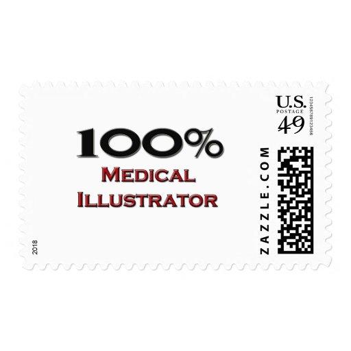 Ilustrador médico del 100 por ciento franqueo