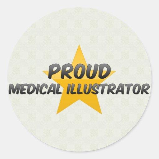 Ilustrador médico orgulloso pegatina redonda