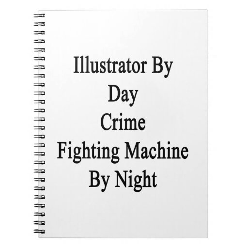Ilustrador por la máquina que lucha del crimen del libretas espirales