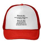 Ilustrador técnico de la regla gorras de camionero