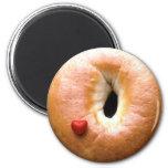 iluvbagels 2 inch round magnet