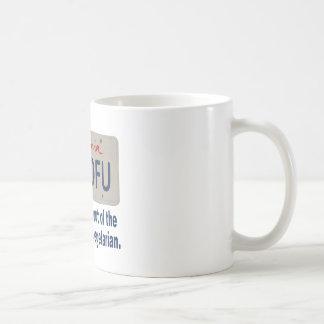 ILVTOFU California License Plate Coffee Mug