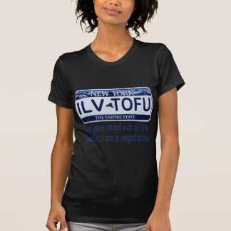 ILVTOFU New York License Plate T-shirt