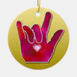 ILY ASL I LOVE YOU Ornament