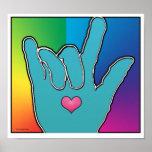 ILY I Love You Color Harmony I Poster