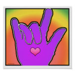 ILY I Love You Color Harmony II Poster