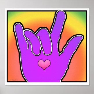 ILY I Love You Color Harmony II Print