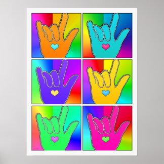ILY (I LOVE YOU) Times Six Pop Art Print