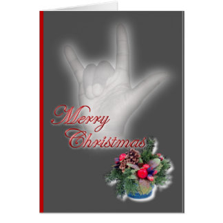ILY - Merry Christmas Greeting Card