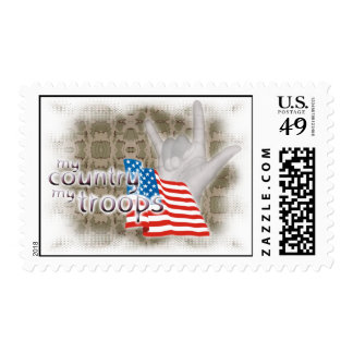 ILY - My Country, My Troops Postage Stamp