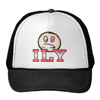 ILY Text Head Trucker Hat