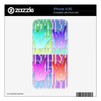 ILY Times Four Decal For The iPhone 4S
