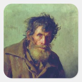 Ilya Repin- A Shy Peasant Square Sticker