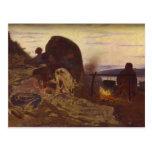 Ilya Repin- Barge Haulers by Campfire Postcard