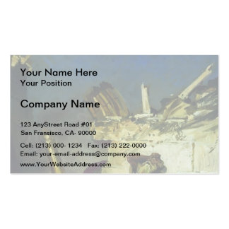 Ilya Repin- Cry of prophet Jeremiah Business Card Template