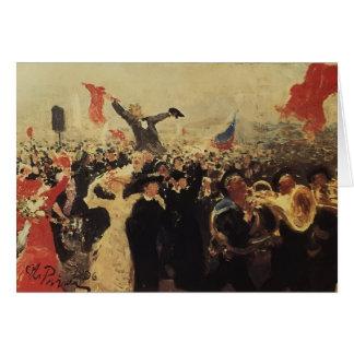 Ilya Repin- Demonstration on October 17, 1905 Greeting Card