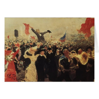 Ilya Repin- Demonstration on October 17, 1905 Greeting Cards