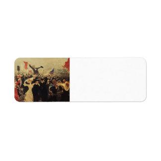 Ilya Repin- Demonstration on October 17, 1905 Labels