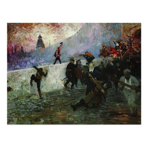 Ilya Repin- en la Moscú sitiada en 1812 Postal