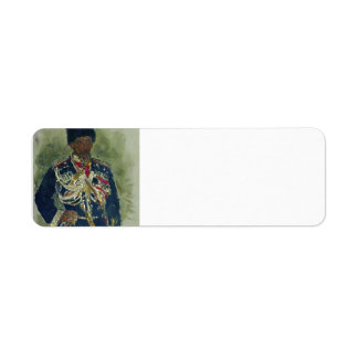 Ilya Repin- General in the form of royal guards Labels