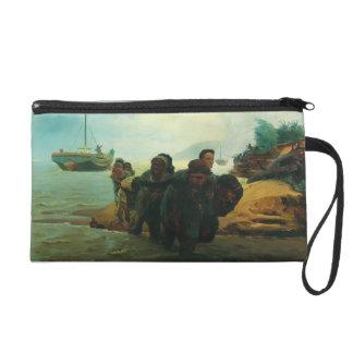 Ilya Repin- Haulers cross wade Wristlet Clutches