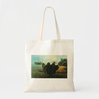 Ilya Repin- Haulers cross wade Tote Bags